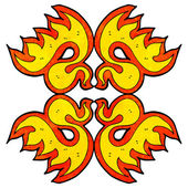 Fire decorative element — Stockvector