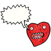 Ošklivé srdce — Stock vektor
