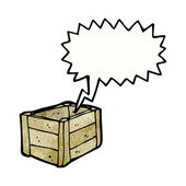Lege houten kist — Stockvector
