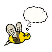Bee with thought bubble — Stock Vector