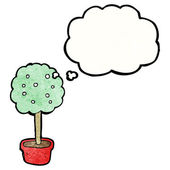 Tree with thought bubble — Stock Vector