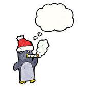 Penguin smoking cigarette — ストックベクタ