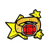 红宝石戒指 — 图库矢量图片