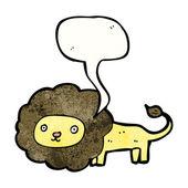 Thinking Lion — Stock Vector