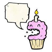 Kreslený strach narozeniny cupcake — Stock vektor