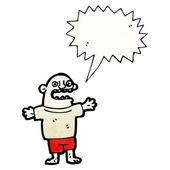 Dibujos animados de idiota de la aldea — Vector de stock