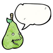 Happy pear — Stock Vector