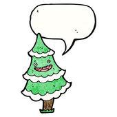 Christmas tree with speech bubble — Stock Vector