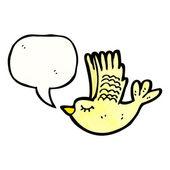 Lindo pássaro voando — Vetor de Stock