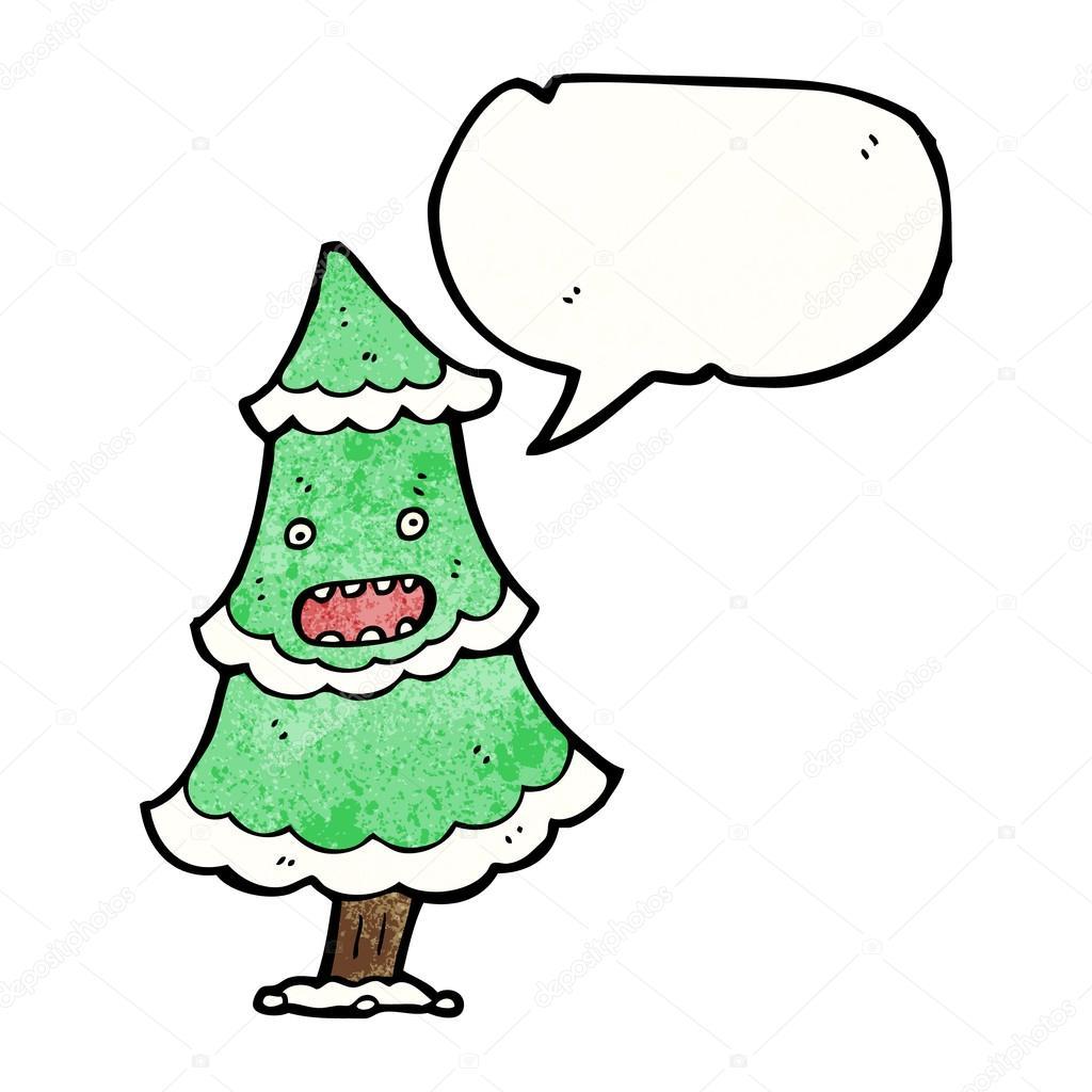 weihnachtsbaum mit sprechblase stockvektor. Black Bedroom Furniture Sets. Home Design Ideas