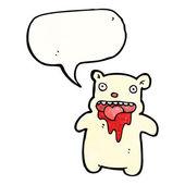 Bloody polar bear — Stock Vector