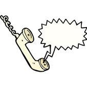Falando de telefone — Vetorial Stock