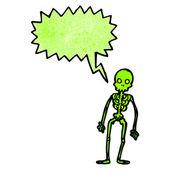 Shrieking skeleton — Stock Vector