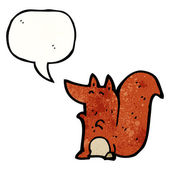 Squirrel with speech bubble — Stock Vector