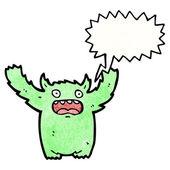 Cartoon angst monster — Stockvektor