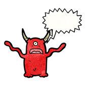Cartoon monster scaring — Stock Vector