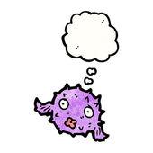 Puffer fish cartoon — Stock Vector