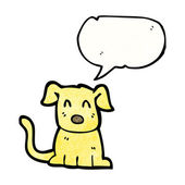 Dog with speech bubble — Stock Vector