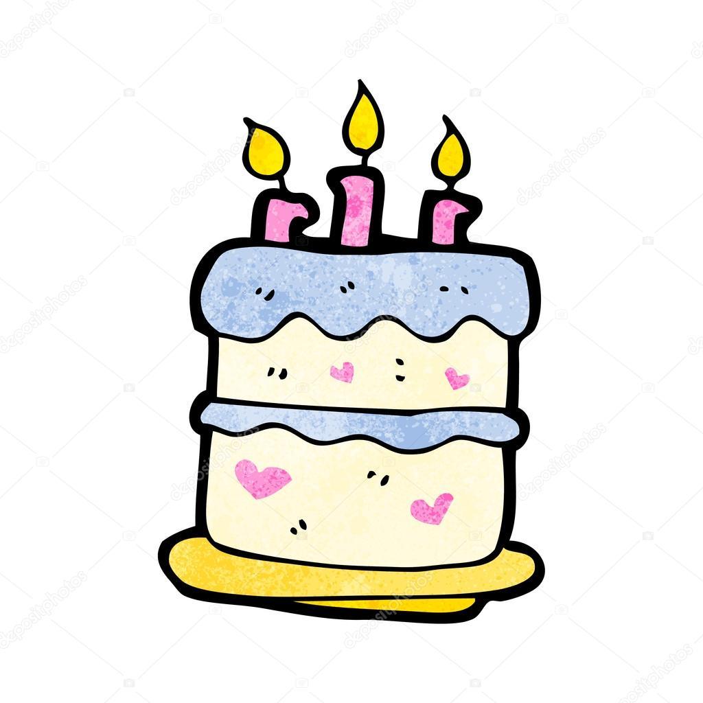 生日蛋糕 - 图库插图