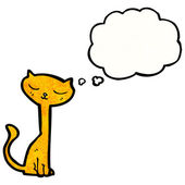 Cat with thought bubble — Stock Vector