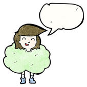 Girl surrounded by stink cloud — Stock Vector