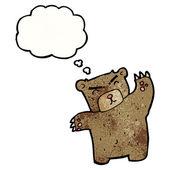 思考バブルとクマします。 — ストックベクタ