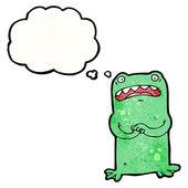 Nervous frog — Stock Vector