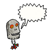 Mluvící robot lebka — Stock vektor