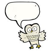Owl with speech bubble — Stock Vector