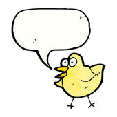 Bird with speech bubble — Stock Vector