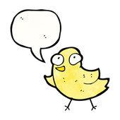 Tweeting bird — Stock Vector