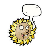 Sunflower face — Stock Vector