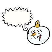 Snowman christmas bauble — Stock vektor