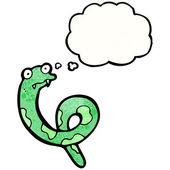 Snake with thought bubble — Wektor stockowy