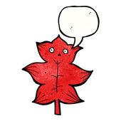 Czerwony lisc — Wektor stockowy