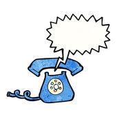 Retro ringing telephone — Stock Vector