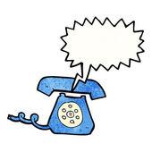 Retro zil telefon — Stok Vektör