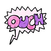 Ouch sign — Stock Vector