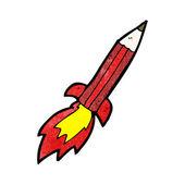 Pencil rocket — Stock Vector