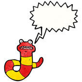 Snake with speech bubble — Stock Vector