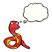 Snake with thought bubble — Stock Vector
