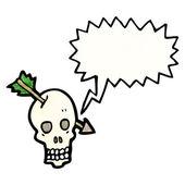 Strzałka w czaszki — Wektor stockowy