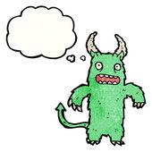 Furry monster — Stock Vector
