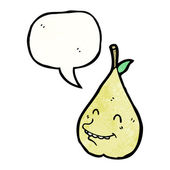 Smiling pear — Stock Vector