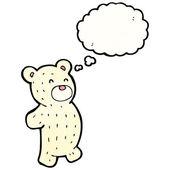 Polar teddy bear — Stock Vector