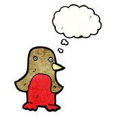 Robin avec bulle de pensée — Vecteur