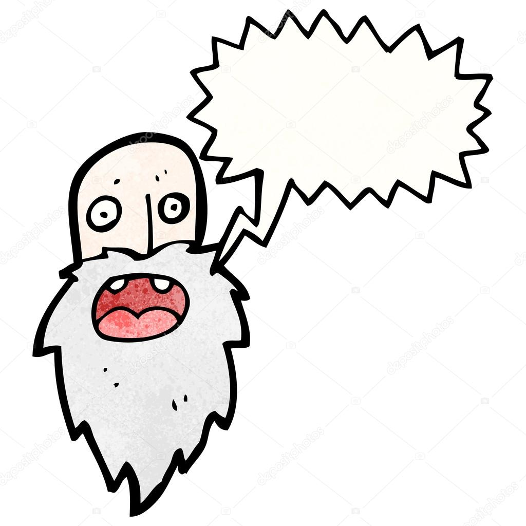 Old Man Cartoon Drawing Cartoon Old Man Shouting
