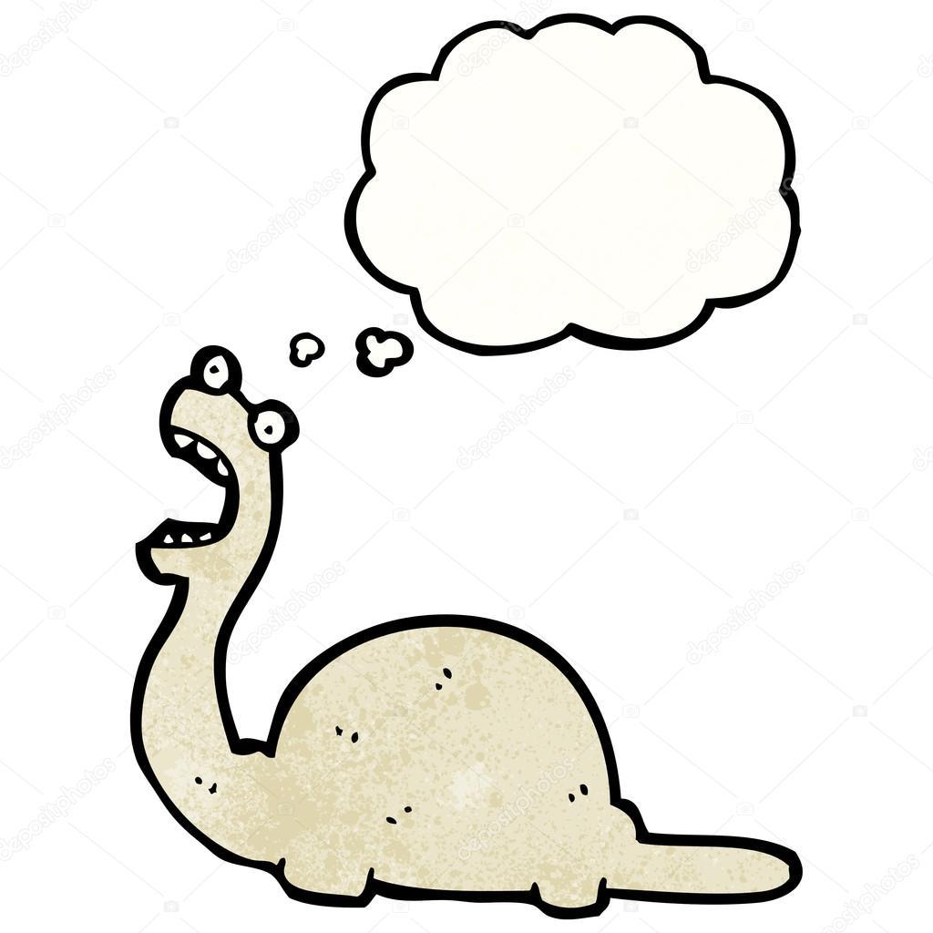 在白色背景上的卡通恐龙