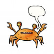 Stock Vector: Crab