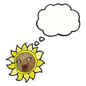 Słonecznik z dymek — Wektor stockowy